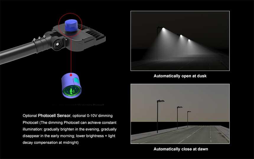 60w Venus Street Light Accessories photocell sensor