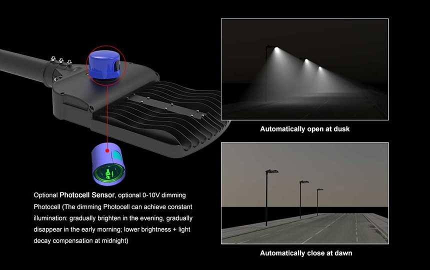 150w hot sale venus led street light with photocell sensor