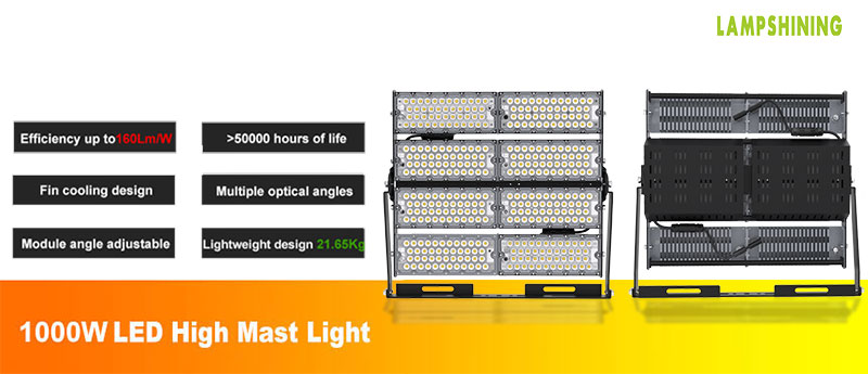 1000W led high mast stadium light