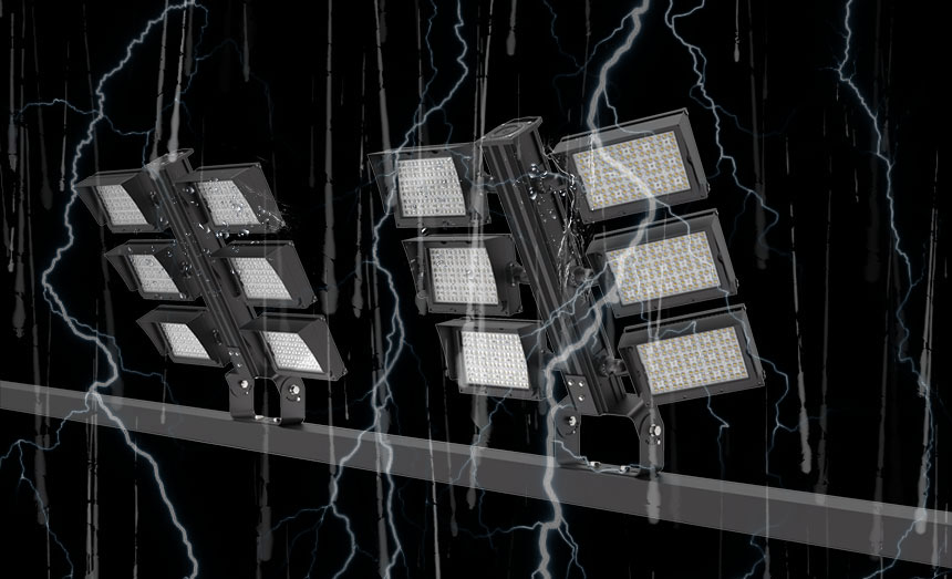 1800w led football field flood light waterproof and Lightning protection design