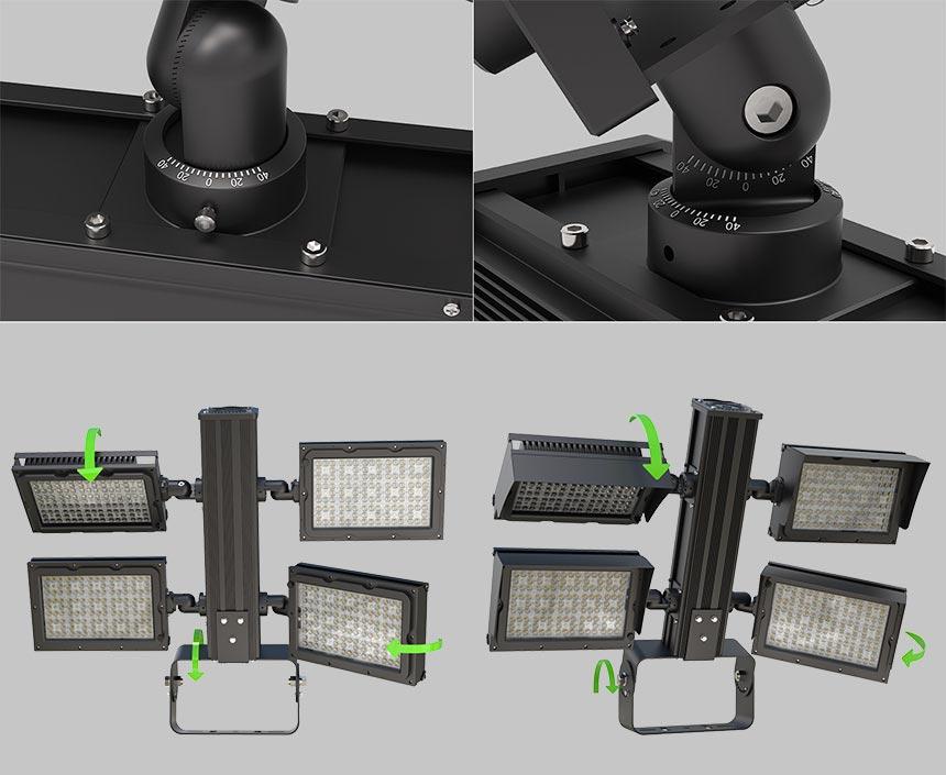 1200w led flood light adjustable module