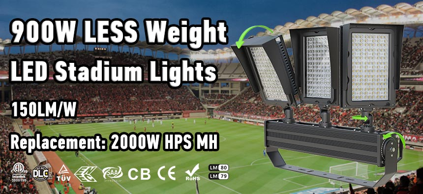 900w led stadium flood light