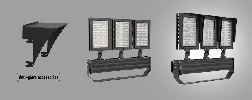 900w stadium led flood light anti-glare accessories
