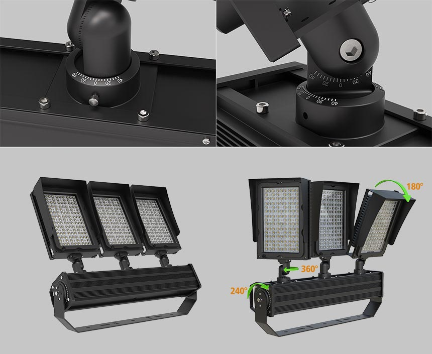 900w led stadium flood light module rotatable