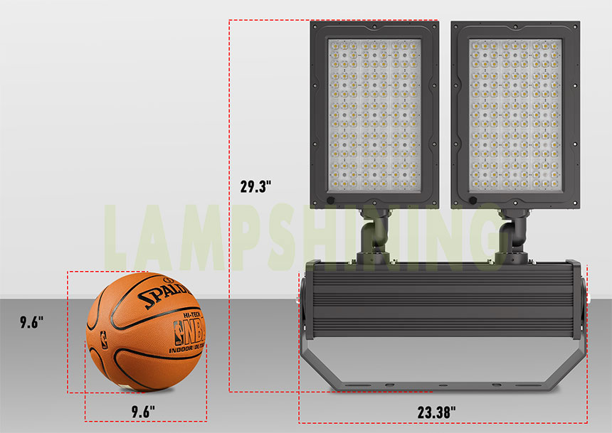 600w led stadium lights fixture size
