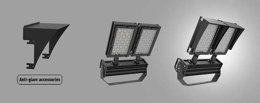 600w stadium led flood light anti-glare accessories