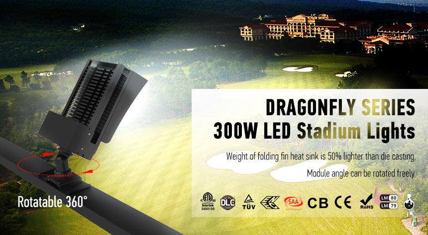 300w high efficient led golf course flood lights