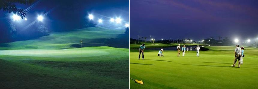 300w led golf course flood light application