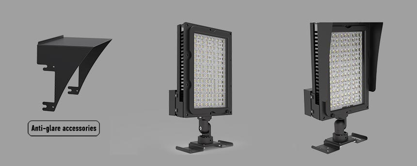 300w led stadium area flood lights anti-glare accessories