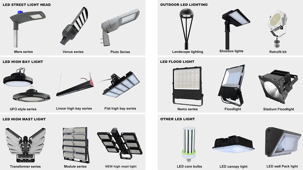 led lighting fixtures list