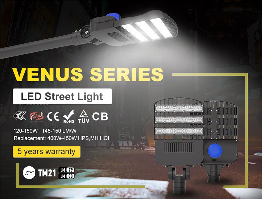 venus series 120w led area,street,road,light fixtures