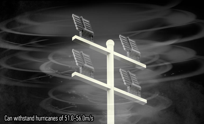 720W LED High Mast Light can withstand hurricanes