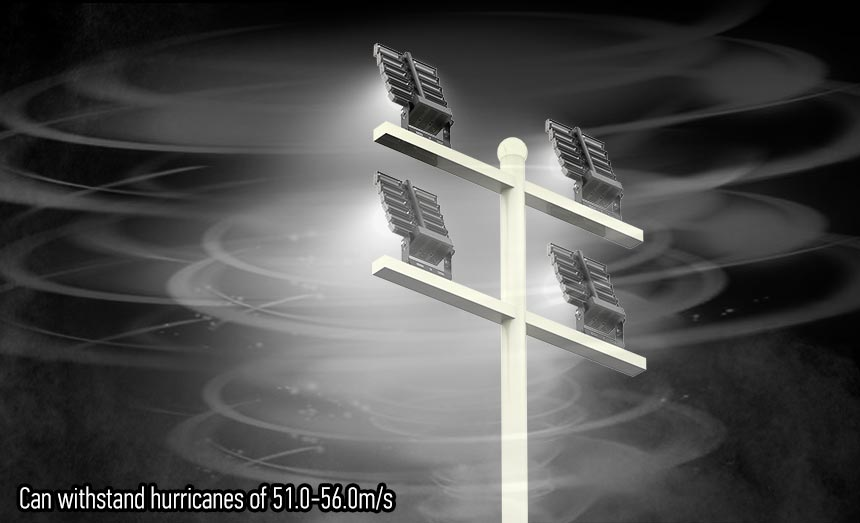 1200W Rotatable High Pole Lights can withstand hurricanes