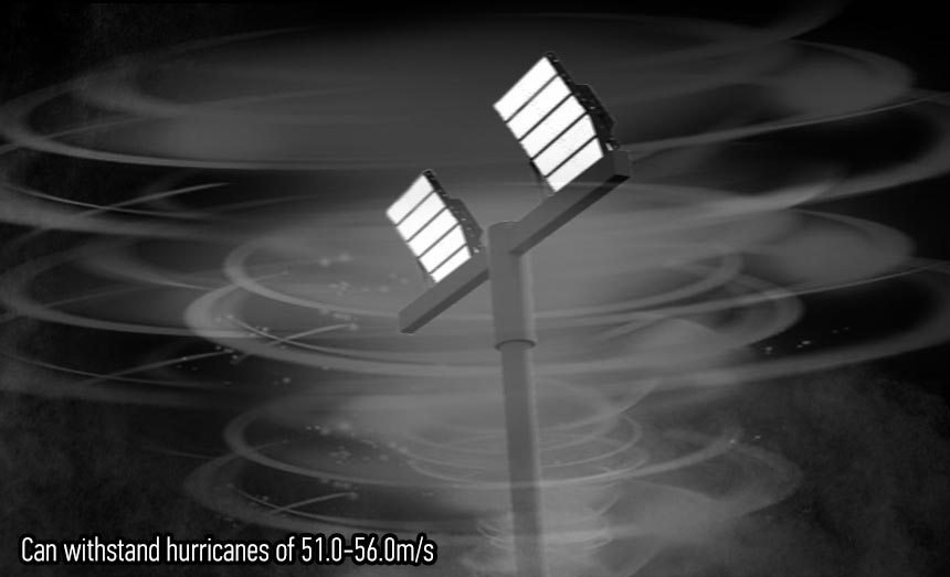 720w LED High Mast Lighting can withstand hurricanes