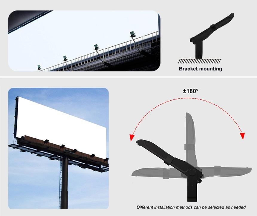 300w led billboard lighting fixtures Installation method