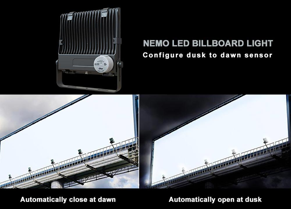 billboard led lighting fixtures with dusk to dawn sensor
