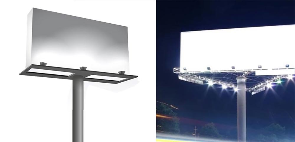 outdoor billboard lighting fixtures