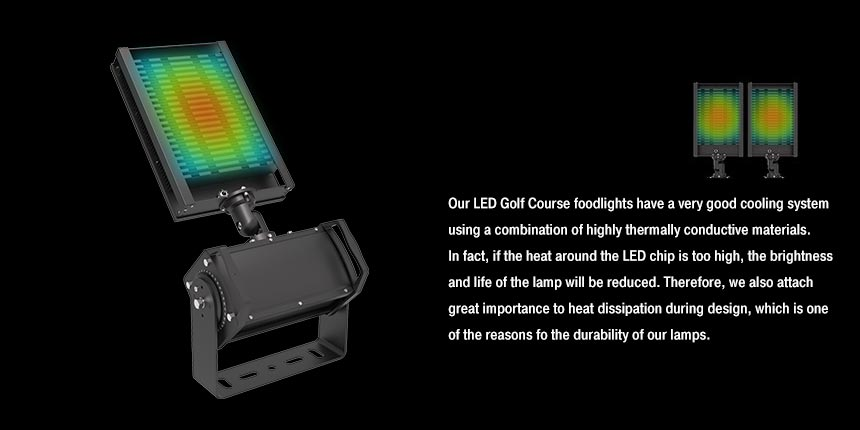 300w led golf course flood light high heat dissipation