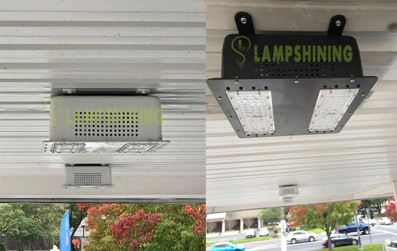case of 100W LED Canopy Light for Gas Station