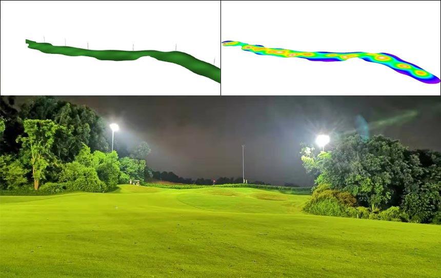 Golf Course led lighting design
