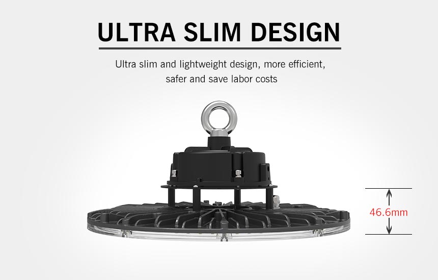 100w ufo led high bay Warehouse Hanging Pendant Light ultra slim design