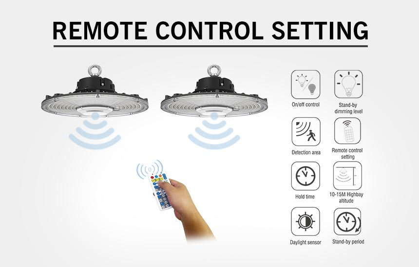 100w led Warehouse Hanging Pendant Light remote control setting