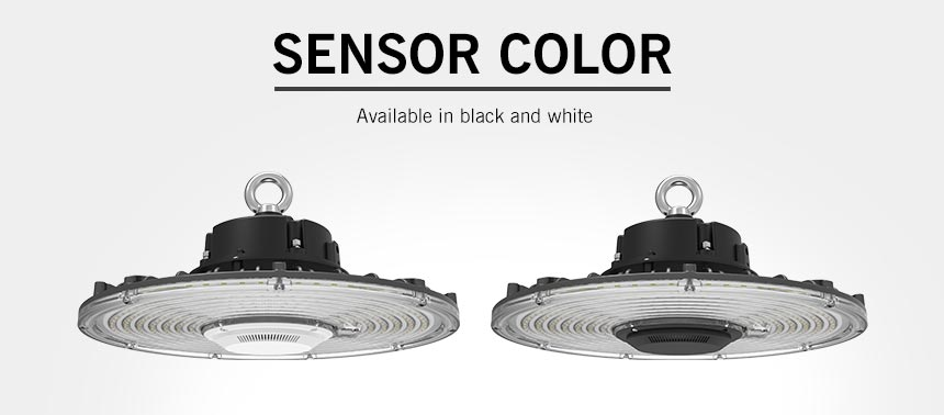 100w rgo ufo led high bay light induction sensor available in black and white