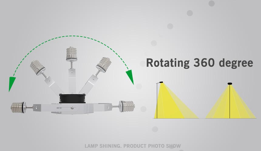100w led retrofit kits rotatable 360 degree