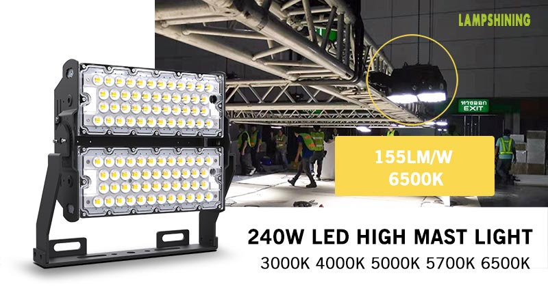 240W LED High Mast Lighting fixtures