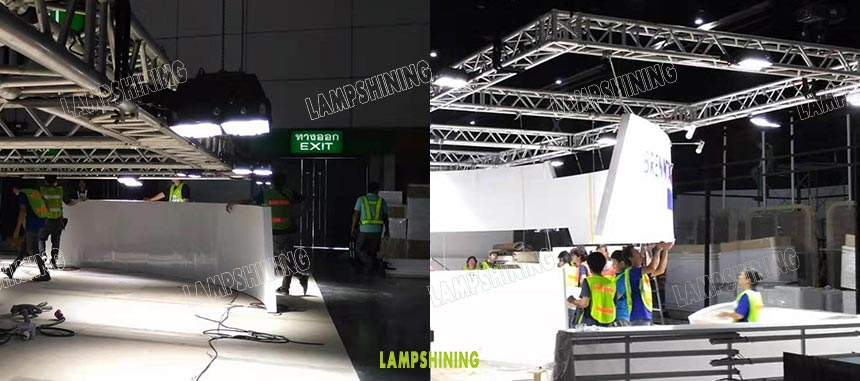 240w led high mast light practical application
