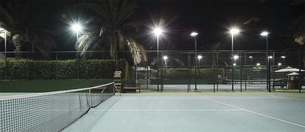 outdoor tennis courts led flood lighting