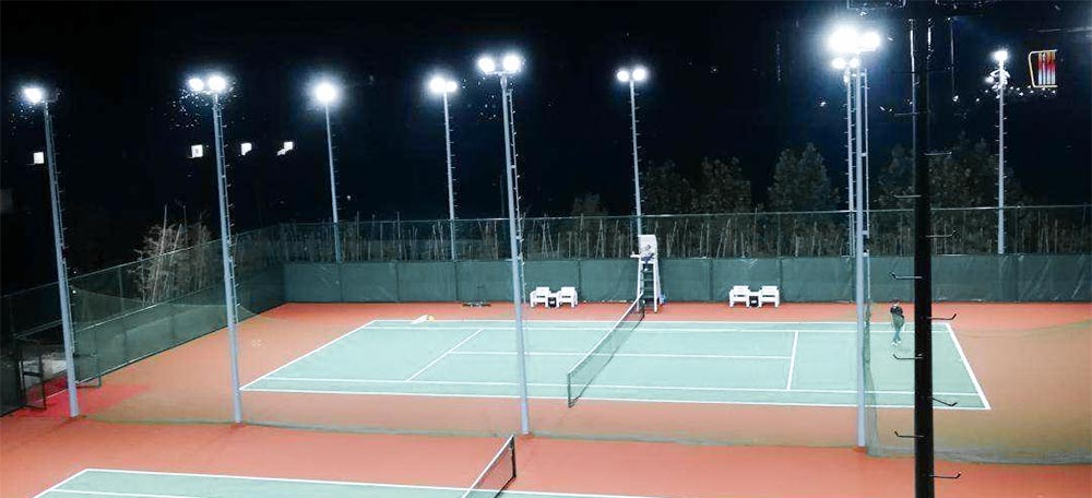 tennis court led flood lighting