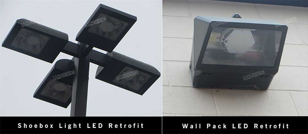 led retrofit kit for shoebox light and wall pack light