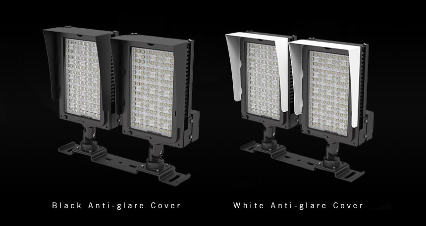 led sports light with anti glare cover