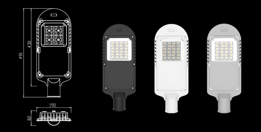 20w led street light size