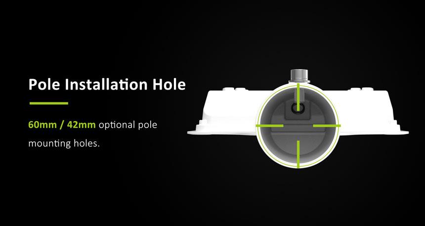 30w led street light pole installation holes 60mm/42mm