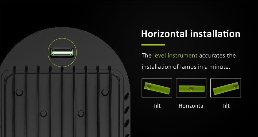 40w led street light with level instrument