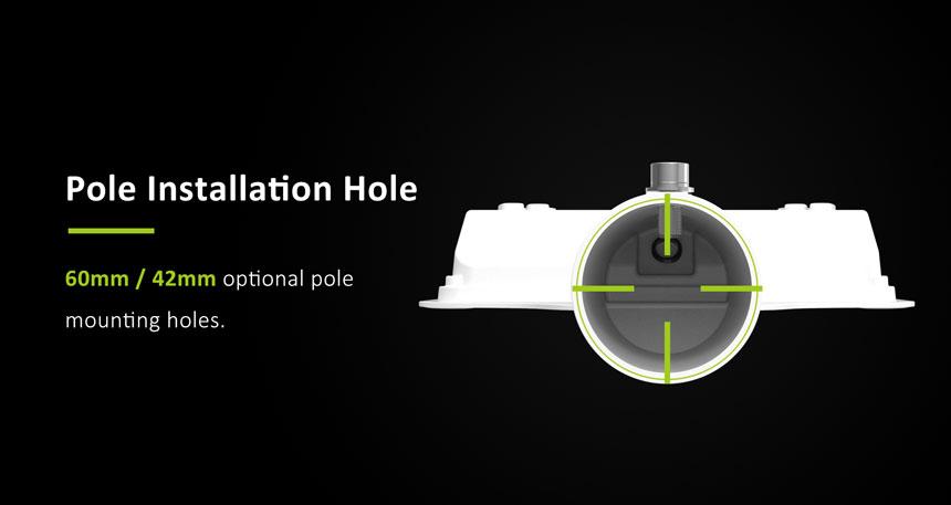 60w led street light pole installation holes 60mm/42mm