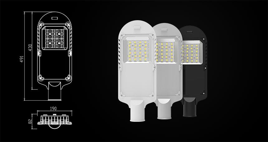 60w led street light size