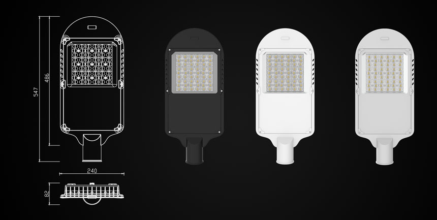 100w led street light size