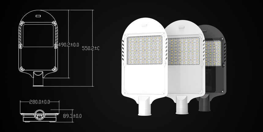 120w led street light size