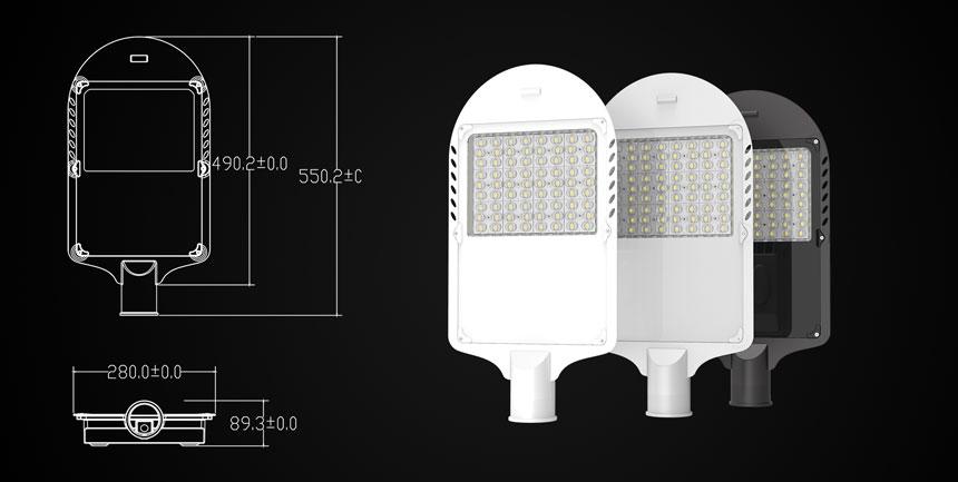 150w led street light size