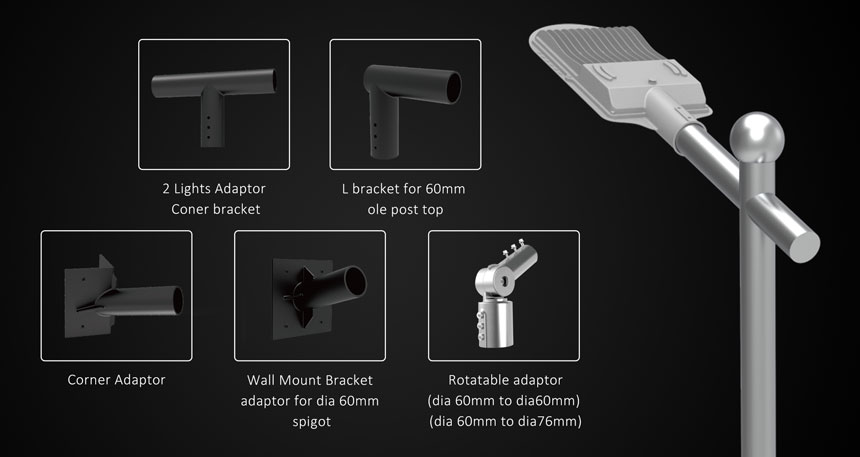 120w led street light optional accessory