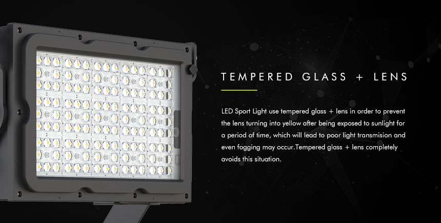 dragonfly plus led sport lights with tempered glass and lens