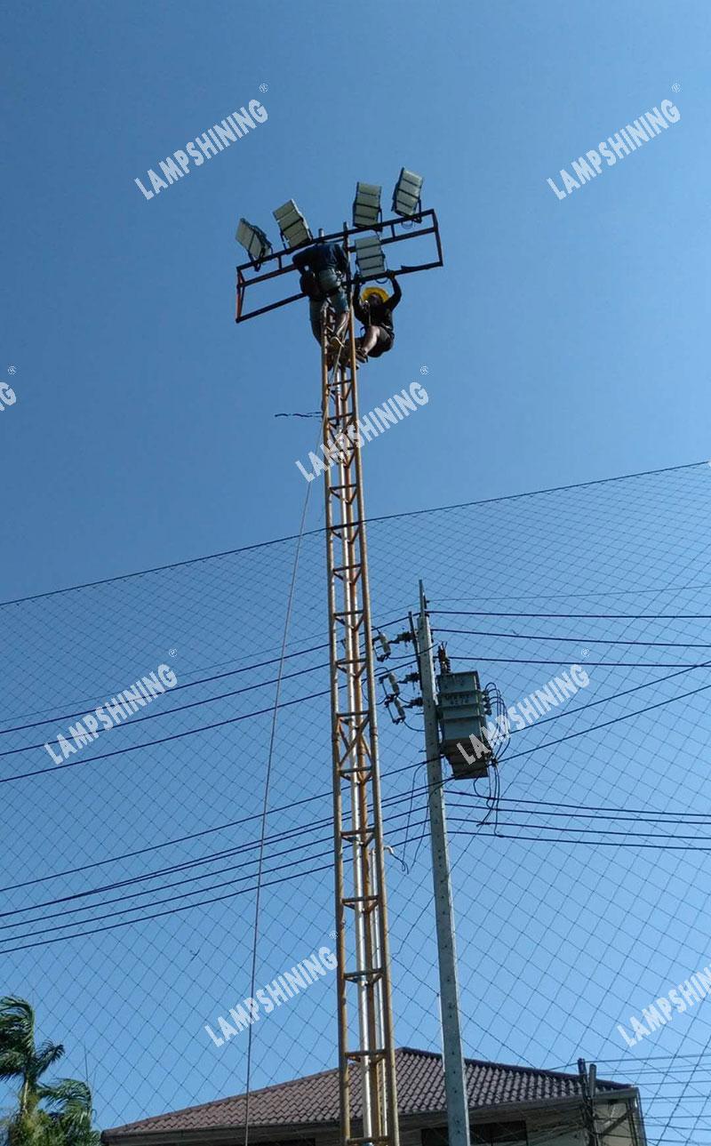 480w led high mast lights for soccer field