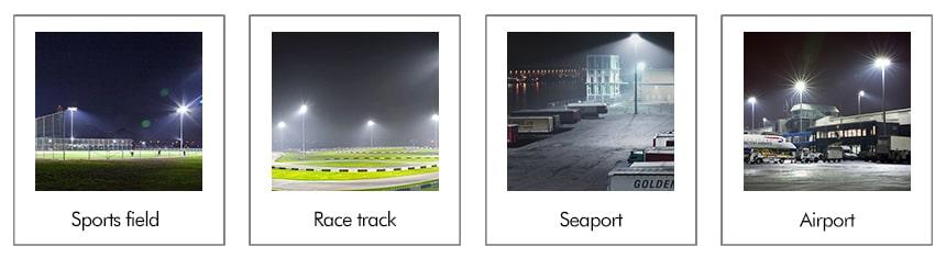 200W Slim Pro LED Stadium Sports High Mast Lights application