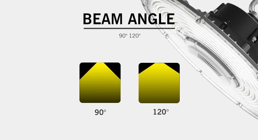 100w rgo ufo led high bay light beam angle