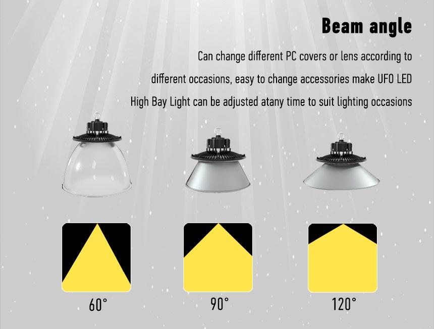 ultra slim ufo led high bay light beam angle