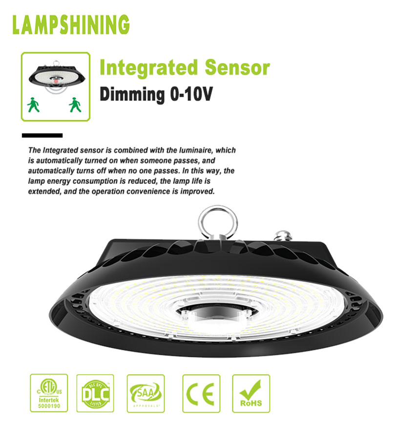 200W usmart UFO LED warehouse High Bay Lights