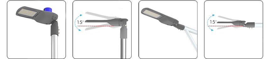 pluto series 100w led street light horizontally or vertically mounting